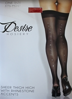 Picture of Desire Hosiery - Sheer Thigh High Stockings with Rhinestones DESIRE1