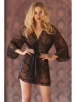 Picture of Seven to Midnight Lace Robe I0683X