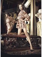 Picture of 50% off Baci Leopard Print Satin Kimono 3067