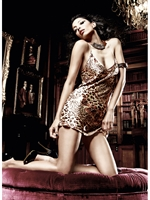 Picture of 50% off Baci Leopard Satin Chemise 3065